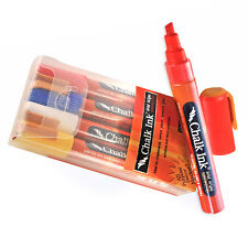 New Retails White, Red, Yellow, Blue Chalk markers with 6mm Chisel Tip