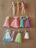 Polly Pocket Disney Princess Lot Naked Disney Brand Dolls Dresses P80