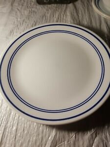 Corelle Casual Cafe Blue 8 pieces. Dinnerware. Used.