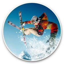 2 x Vinyl Stickers 30cm - Skiing Trick Jump Ski Mountains  #46304