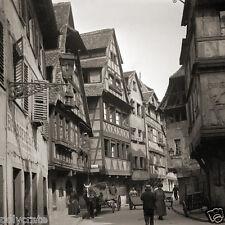 Strasbourg Petite France rue du Bain-Aux-Plantes Photo ancienne deb. XXe repro