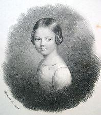 """Lithographie """"Caroline Cogels"""" (*3.2.1822) / 1836 / niederländischer Adel"""