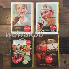 1951 COMPLETE Set of 4 NATIONAL GEOGRAPHIC MAGAZINE COCA-COLA COKE ADS