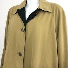 Pierrette L XL Swing Coat Brushed Twill Khaki Cotton Jacket Switzerland