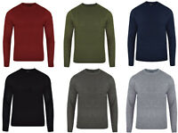 Mens Plain Crew Neck Cable Jumper | Knitted Sweater