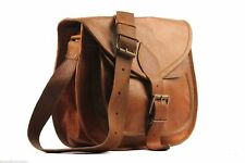 Handmade Vintage Large Hobo Purse Women Brown Leather Messenger Cross Body Bag