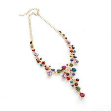Fashion Crystal Pendant  Women Bib Collar Choker Chunky Chain Statement Necklace