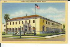 CB-119 AZ, Phoenix, United States Post Office Linen Postcard Curt Teich Corner