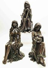"Tripe Goddess Maiden Mother and Crone Figurine Pagan Statue Wicca Set 6.25""H"