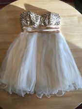 Short Gold Homecoming Dresses Formal Party Prom Ball Gown Evening Size 5