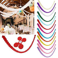3 Meters Paper Garland Bunting Banner Birthday Wedding Party Hanging Decor Grace