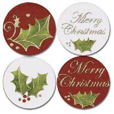 Christmas Holly Christmas Card Seals 25/pk