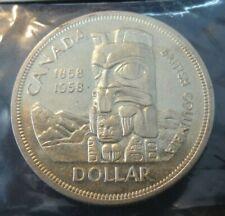 1958 CANADA BRITISH COLUMBIA ONE DOLLAR COIN NICE GRADE