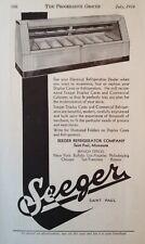 1934 AD(XA14)~SEEGER REFRIGERATOR CO. ST. PAUL, MINN. GROCERY STORE DISPLAY CASE