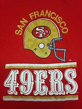 Vintage San Francisco 49ers Football Red XL T- Shirt NFL California Super Bowl