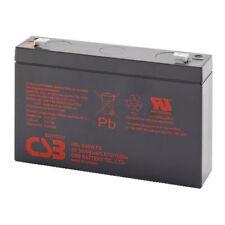 CSB HRL634WF2, Batteria ermetica ricaricabile al piombo 6V 34W, Faston 6,3mm.