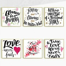 Love Inspirational Motivational Quotes Silk Canvas Poster Decor Unframed SC72