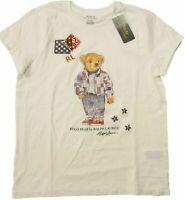 Polo Ralph Lauren Women's SZ XS White Patch Polo Bear Crew Short Sleeve T-Shirt