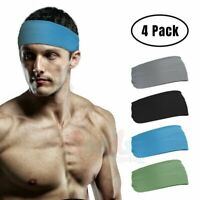 4 Bandana Headband Elastic Hairband Men Women Fashion Yoga Sports Soft Head Wrap