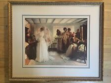 Framed Print Bride getting ready dressed for Wedding from The Bombay Company