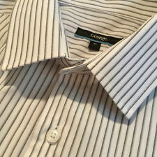 George Cotton Machine Washable Striped Formal Shirts for Men