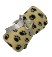 Pet Cat Dog Paw Print Cover Throw Blanket