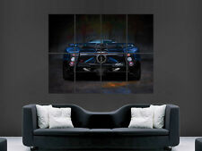PAGANI ZONDA CAR POSTER SUPERCAR FAST BLACK IMAGE HUGE LARGE WALL ART  PICTURE