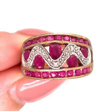Ring in 10k Yellow Gold 1.75ct Ruby and Diamond Right Hand