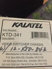 Kalatel KTD-341 Video Switcher Chassis