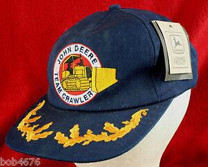 RARE JOHN DEERE TEAM CRAWLER ball cap Embroidered BRAND NEW Never Worn w Tags