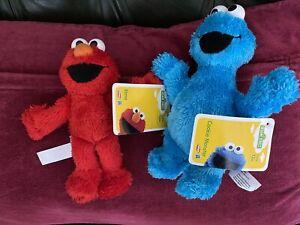 Sesame Street Elmo And Cookie Monster Plush Soft Toys