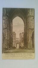 1913 Villers-la-Ville, Belgium B&W Postcard Abbey ruins & K Albert I 1912 stamp