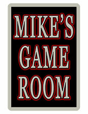 PERSONALIZED GAME ROOM B/SILVER SIGN DURABLE ALUMINUM FULL COLOR CUSTOM SIGN#017