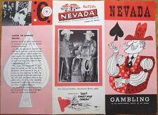 Nevada Gambling Brochure 1955 - Las Vegas/Reno/Carson City, Slot Machines - NV