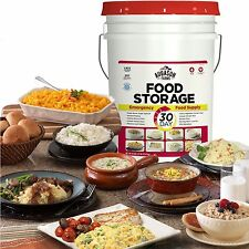 307 Servings 30Day Food Storage Emergency Supply Bucket Rations Kit Survival mre