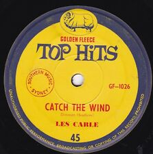 LES CARLE Catch The Wind / BEATMEN Dont Be Misunderstood 45 Golden Fleece SirH70