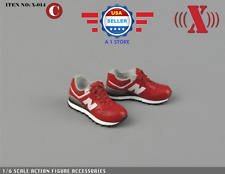 X-TOYS 1/6 SCALE RED SPORT Sneakers Shoes for 12'' MALE Action Figure