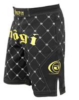 Kingpin Jiu-jitsu Fight Shorts by Nogi Industries BJJ MMA GOLD/BLACK