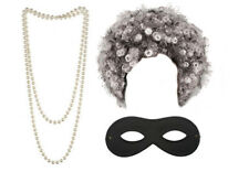 Gangster Granny World Book Day Fancy Dress Costume Gangsta (Beads Mask Afro Set)