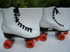 Vintage Women's White Labeda Roller Derby Roller Star Roller Skates Size 8 EUC