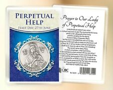 OUR LADY OF PERPETUAL HELP POCKET TOKEN & CARD - STATUES CANDLES PICTURES LISTED