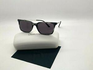 NEW Calvin Klein Sunglasses CK 19703S 025 STRIPED BLACK 56-17-140MM /CASE