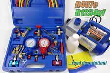 R32 R410a R1234yf R134a R407c Split AC Refrigerant Gauge manifold refill tool