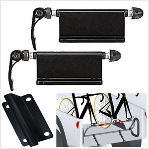 2 Pcs Alloy Car Pickup Bed Rack Bicycle Quick Release Fork Mount Carrier Holder