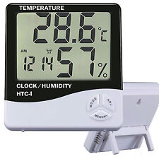 Thermometer Indoor Digital LCD Hygrometer Temperature Humidity Meter Alarmclock