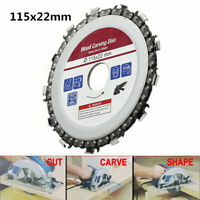 "4.5"" 115mm 13 Teeth Grinder Chain Saw Disc 22mm Arbor Woodworking Carving Cutter"