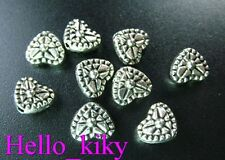 100 Pcs Tibetan silver spark heart spacer beads A98