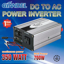 Power Inverter 350W(700W Max) 12V-240VAC+Car Plug Cable IR U S Transistors