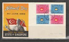 Singapore FDC, 1962 National day Illus, Imprint address ( Faded )