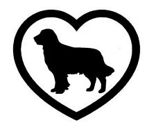 GOLDEN RETRIEVER HEART VINYL DECAL STICKER DOG BREED CHOOSE COLOR/SIZE